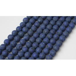 LanLi 8mm naturalna biżuteria granatowy Lapis Lazuli luźne koraliki DIY moda bransoletka naszyjnik kolczyki do uszu akcesoria