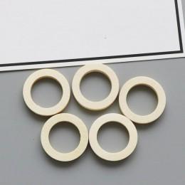 10 sztuk DIY akcesoria jubilerskie do uszu drewna koło pierścień małe kolczyki urok Hollow wisiorek naturalny materiał akcesoria