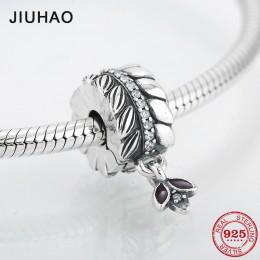 925 Sterling Silver pszenica uszy okrągły kształt CZ klipy blokada koraliki z liści Fit oryginalny bransoletka typu charm Pandor