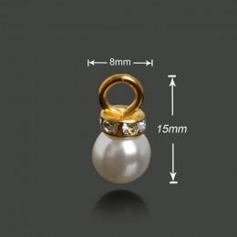 Gorący sprzedawanie 10 sztuk/partia 5 rozmiary imitacja pereł owalne Charms wisiorek dla uszu, naszyjnik, biżuteria, kobiety, su