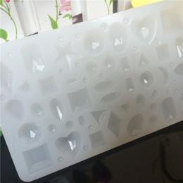 Cabochon silikonowe forma wiele rodzajów diamentów DIY handmade kolczyki do uszu wisiorek epoksydowa przezroczyste silikonowe fo