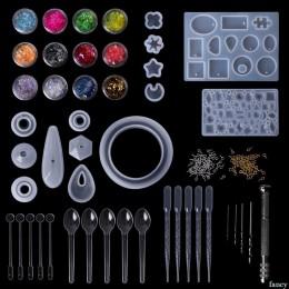 1 zestaw żywicy epoksydowej zestaw DIY tworzenia biżuterii narzędzia wisiorek naszyjnik kolczyki do uszu Handmade rękodzieło pre