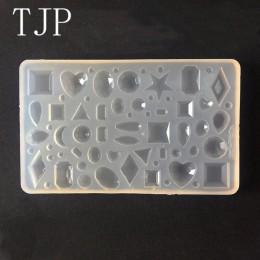 TJP 1 sztuk Cabochon silikonowe forma wiele rodzajów diamentów DIY handmade kolczyki do uszu wisiorek epoksydowa przezroczyste s