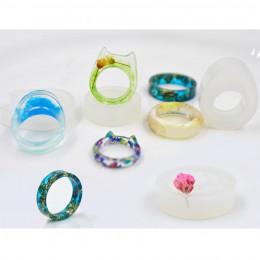 8 sztuk 16-19mm kot ucho i jajko kształty wyczyść formy silikonowe suszone kwiaty żywica rzemiosło DIY pierścień formy epoksydow