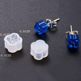 5 sztuk DIY silikonowe kolczyk Ear Stud formy do tworzenia biżuterii żywica odlewania formy narzędzie rzemieślnicze