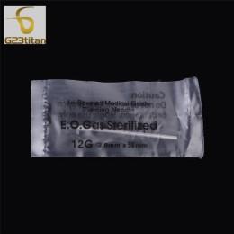 G23titan jednorazowe Body do przekłuwania uszu zestaw narzędzi 12/14/16/18/20G medyczne chirurgiczne ze stali nierdzewnej tatuaż