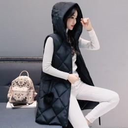 Kurtka zimowa kobiety kamizelka slim zimowy płaszcz z kapturem kobiet parki mujer 2019 moda mujer invierno 2019 kurtka zimowa dl