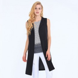 9675b5a7f6f41d Kamizelka płaszcze kobiet kurtka zimowa Eliacher marki Plus rozmiar Casual  odzież damska moda damska kamizelka długa