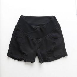 Dla kobiet w ciąży spodenki latem nosić niskiej talii spodenki jeansowe lato nosić nowy wiosna luźne spodnie dla kobiet w ciąży