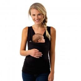 Plus rozmiar S-5XL nosidełko dla niemowląt odzież kangur T-Shirt dla ojca matki z dzieckiem z krótkim rękawem duża kieszeń wielo