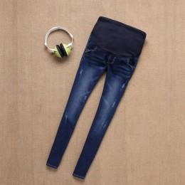 BAHEMAMI jeansy ciążowe spodnie dla kobiet w ciąży pielęgniarstwo dżinsy długie Prop brzuch Legging Skinny ubrania dla spodnie d