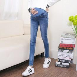 Nastolatek odzież ciążowa spodnie dla kobiet w ciąży uszkodzony otwór dżinsy lato cienki styl w ciąży spodnie legginsy macierzyń