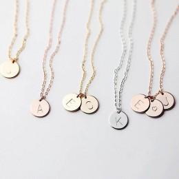 DIY Tiny złoty początkowy naszyjnik złoto srebro list naszyjnik inicjały nazwa naszyjniki wisiorek dla kobiet dziewczyny najleps