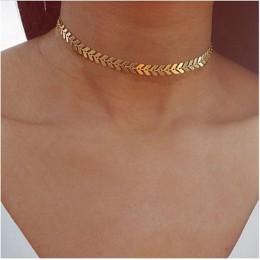 X220 liście łańcuszek cekiny Choker naszyjniki dla kobiet czechy styl biżuteria oświadczenie naszyjniki Party biżuteria najlepsz