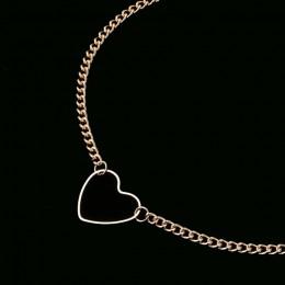 NK218 Hollow serce Choker naszyjniki dla kobiet obojczyk obojczyk komunikat naszyjnik Collares serce Dainty naszyjnik prezent