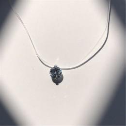 Choker niewidoczne linka wędkarska kryształowy naszyjnik wisiorki szyi cyrkon kobiety łańcuszek do obojczyka pani Feminino kołni
