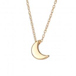 Śliczne małe wisiorek z księżycem naszyjnik dla kobiet złoty kolor choker łańcuszek naszyjnik czeski kołnierz biżuteria prezent