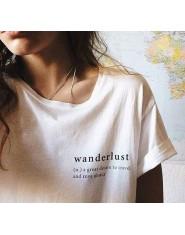 HAHAYULE Wanderlust Cursive koszula estetyczne Tumblr T-shirt śliczne Graphic Tee lato w stylu T Shirt dla kobiet kobieta Sexy t