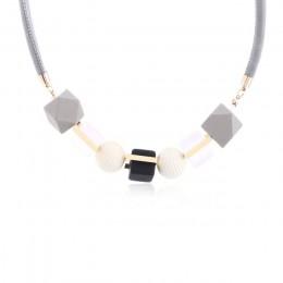 Dopasuj prawy kobiet naszyjnik oświadczenie naszyjniki i wisiorki korale z drewnianymi koralikami dla kobiet biżuteria MX012
