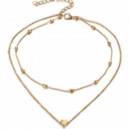 Nowy łańcuszek do obojczyka mody wakacje kurort nadmorski plaża biżuteria serce gwiazda księżyc liść naszyjnik łańcuszkowy dla k