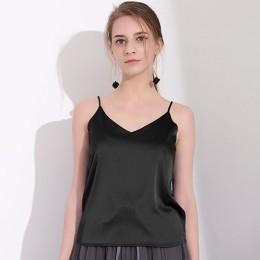 GAREMAY Sexy Silk Top kobiet szczupła Sexy koszulka bez rękawów kobiet podstawowe Camisole Halter Tank Top lato bluzki dla kobie