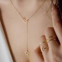 Naszyjnik z małym serduszkiem dla kobiet krótki łańcuszek serce wisiorek w kształcie gwiazdy naszyjnik etniczny naszyjnik choker