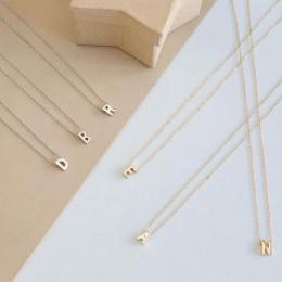 Moda srebrny początkowe Charms naszyjnik wisiorek metalowe litery do biżuterii spersonalizowane wyciąć litery pojedyncze M naszy