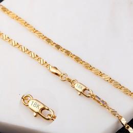 2mm płaski łańcuch naszyjnik dla kobiet mężczyzn biżuteria naszyjniki i wisiorki Charms biżuteria 16 18 20 22 24 26 28 30 cal hu