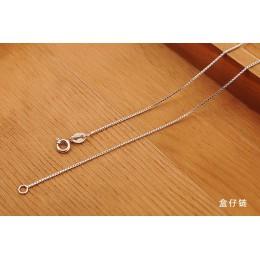 Fanqieliu 6 styl prawdziwe 925 Sterling Silver naszyjniki Slim cienki wąż naszyjnik łańcuszkowy kobiety ciało pudełko łańcuch dl
