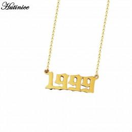Spersonalizowany stare angielskiego numer naszyjniki kobiety biżuteria na zamówienie rok 1991 1992 1993 1994 1995 1996 1997 1998