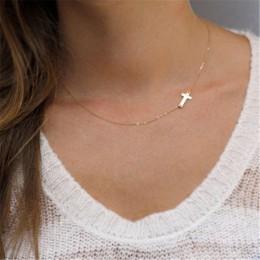 Nowa moda krzyż wisiorek naszyjnik kobiety złoty naszyjnik wakacje plaża komunikat biżuteria hurtowych