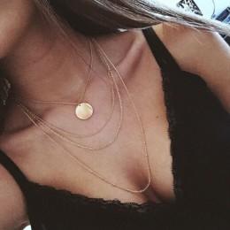 Nowa moda trendy biżuteria miedź choker wielowarstwowy naszyjnik prezent dla kobiet Boho warstwa seks Chokers naszyjnik łańcuch