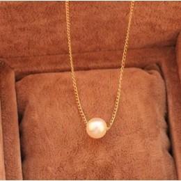 X3 gorąca sprzedaż elegancka dama moda wisiorek z imitacją perły naszyjniki dla kobiet zwięzłe łańcuszek do obojczyka naszyjniki