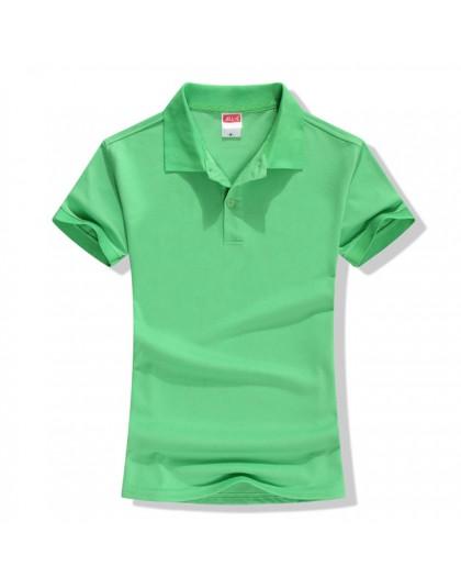Nowy 2018 lato marka solidna koszulka Polo kobiet koszula Slim z krótkim rękawem camisa koszulka polo Polo femme kobiety na co d