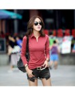 Wiosna jesień koszulka Polo kobiet 2018 z długim rękawem solidna Slim Polo Mujer koszule topy moda Plus rozmiar Polo Femme cukie
