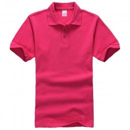 Kobiety mężczyźni Unisex bawełna zwykły jednolity czarny niebieski granatowy czerwony koszulka POLO damska z krótkim rękawem bez
