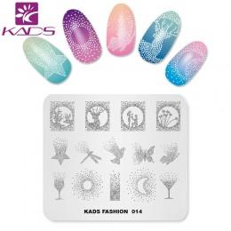 KADS New Arrival moda 014 do zdobienia paznokci Manicure szablon tłoczenia obraz płyty do stemplowania paznokci druku wzornik