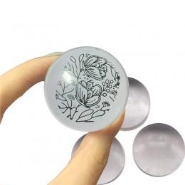 YZWLE 2019 unikalne nowy gorący projekt czysty wyczyść galaretki silikonowe Nail Art Stamper głowy przejrzyste 2.8 cm stemplowan