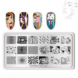 Urodzony dość paznokci tłoczenia płyty prostokąt piękno wielu stylów Nail Art Stamp obraz szablon szablony artysta Manicure