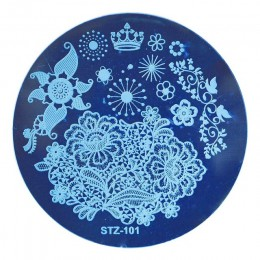 1 sztuk okrągłe szablony do tłoczenia paznokci płyty Dream Catcher kwiaty koronkowe obraz polski Transfer narzędzia DIY do zdobi
