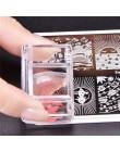 BeautyBigBang 1 zestaw prostokąt galaretki silikonowe paznokci Stamper przezroczysty uchwyt Manicure Stamp szablon narzędzia mat
