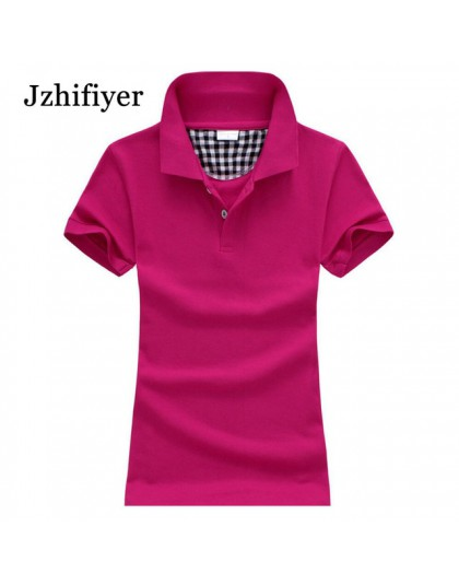 Kobiety bawełna camisa koszulka polo z krótkim rękawem moda zwykły koszule top polo femme na co dzień koszulka polo 180g bawełni