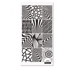 Klasyczna linia Zebra paski wzory paznokci szablon do zdobienia paznokci płyta obrazowa 12*6 cm drewna ziarna stylu płytka do st