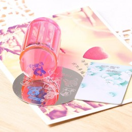 Nowy 4 kolory przezroczysty żelowy stempel 2.8 cm przezroczysty lakier do paznokci stempel skrobak polski druku transferu paznok