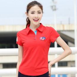 Ruoru M-6XL duży rozmiar marka Mushroom haft koszulka Polo damska koszula na co dzień panie koszulka Polo Slim Polo Femme kobiet