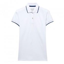 Giordano koszulka Polo damska koszula kobiety kontrast kolor Pique Slim fit Polo kobiety koszula z krótkim rękawem boczne podzia