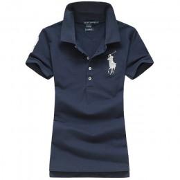 2019 moda lato koszulka Polo kobiet nowy Casual krótki rękaw Slim Polo koszule topy kobiet bawełniane ubrania