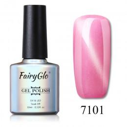 FairyGlo 10 ML żel do paznokci lakier Jade Cat Eye Gel Nail polski magnes Hybrid lakier Semi Permanent lakier do paznokci podkła