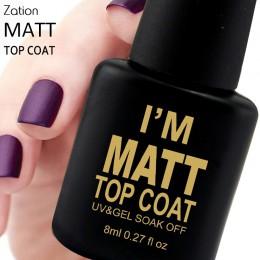 Zation matowy warstwa wierzchnia do paznokci żel Uv na szczęście dla Manicure Easy żel oczyszczający lakier zdrowe i nietoksyczn