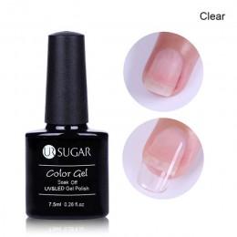 UR cukier 7.5 ml szybkie poli rozszerzenie żel wyczyść różowy Nude do paznokci porady UV budynek żel galaretki akrylowe dekoracj